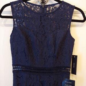 Lulus Navy Blue Lace Maxi Dress